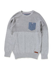 POW M KNIT 514 - Medium Grey Melange