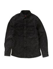 CHESTER M TF LS SHIRT 514 - Black