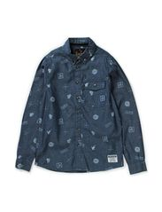 JADEN M LS DENIM SHIRT - Medium Blue Denim