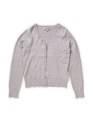 OFNKARDI F KNIT CARDIGAN BASIC BOX 115 - Medium Grey Melange