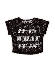 OFNKING F SL CROP TOP 115 - Black