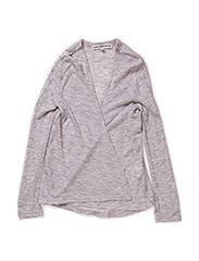 OFNHULA F LS CARDIGAN 215 - Medium Grey Melange