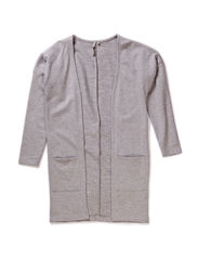 OFNVIGGA F LS LONG SWEAT CARDIGAN 215 - Medium Grey Melange