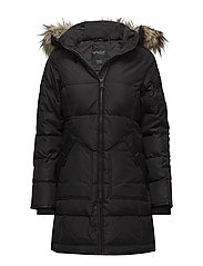 COUGAR LADIES FAUX FUR PARKA - BLACK