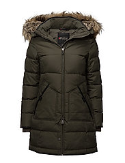 COUGAR LADIES FAUX FUR PARKA - MILITARY