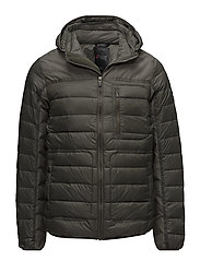 KARL MENS LIGHT QUILTED JACKET - MILITARY