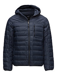 KARL MENS LIGHT QUILTED JACKET - NAVY