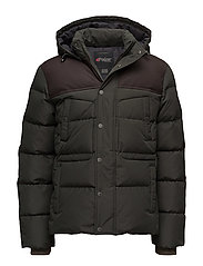 KANE MENS WOOL PARKA - MILITARY