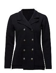 Blazer knitted jacket - NAVY