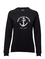 Pullover with logo - 300 NAVY
