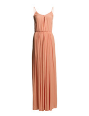 SILK CHIFFON LONG DRESS - Light Orange