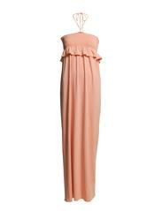 LONG VISCOSE STRETCH DRESS - Light Orange