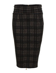 PENCIL SKIRT WITH HIGH WAIST - Black & White