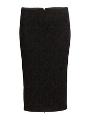 PENCIL SKIRT WITH HIGH WAIST - Black