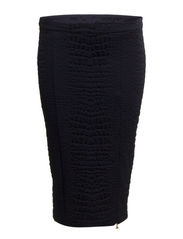 PENCIL SKIRT IN STRUCTURED VISCOSE JERSEY - Ink Blue