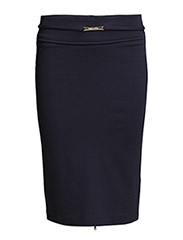 HIGH-WAISTED PENCIL SKIRT IN LIGHT STITCHED JERSEY - Dress Blue