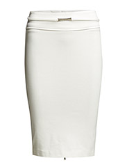 HIGH-WAISTED PENCIL SKIRT IN LIGHT STITCHED JERSEY - Natural