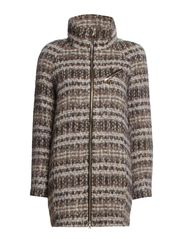 PRINTED FABRIC COAT - Beige multicolor