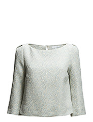 LONG SLEEVE SHIRT IN PATTERNED JACQUARD WITH LUREX - Sky Lurex