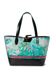SHOPPER IN REVERSIBLE PATTERNED ECO-LEATHER - F436