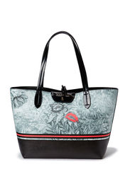 SHOPPER IN REVERSIBLE PATTERNED ECO-LEATHER - F438