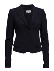 SLIM-FIT JACKET IN LIGHT STITCHED FABRIC - Dress blue