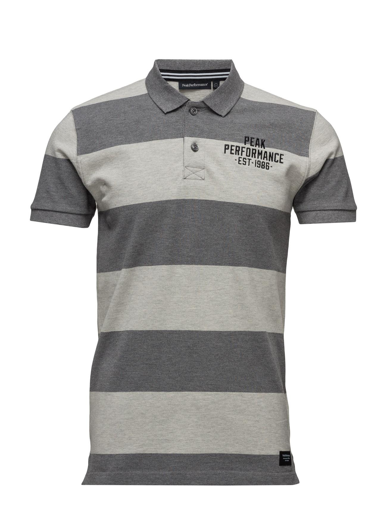 Sting.Strp Peak Performance Kortærmede polo t-shirts til Herrer i Grey Melange