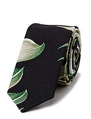 LAWNDALE Necktie - Black palm