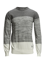 Mens LARKSPUR Crew Knit - Grey