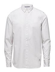 Mens PERRY Woven Dot Shirt - WHITE