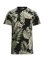 Mens KULA T-Shirt - Black palm