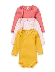 3-pack Longsleeved Body - pink/raspberry/mustard