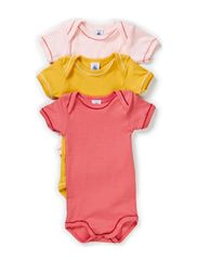 3-pack Shortsleeved Body - pink/raspberry/mustard