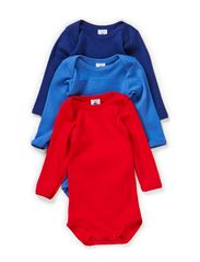 3-pack Longsleeved Body - marin/blue/red
