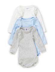 3-pack Longsleeved Body - white/grey/l.blue