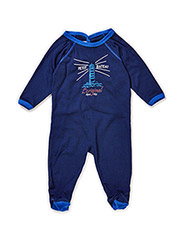Pyjamas with buttons in the back - Blue