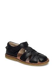 Leather sandal - BLACK