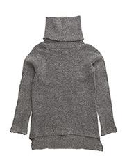 Turtleneck knit - GREY MLG
