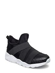 Sneaker w. velcro - BLACK
