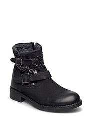 Boot w. glitter - ANTIQUE BLACK