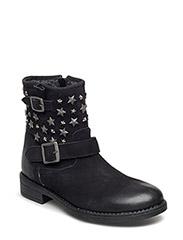 Boot w. star studs - BLACK