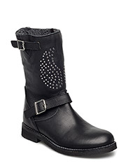Boot w. wings - BLACK