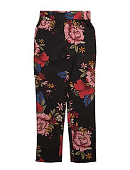 Pants - BLK FLOWER