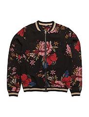 Jacket - BLK FLOWER