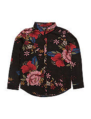 Shirt - BLK FLOWER