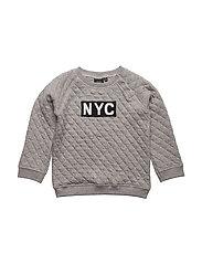 Sweat w NYC - GREY MELANGE