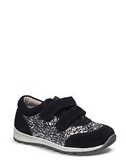 Shoe Velcro glitter - BLACK