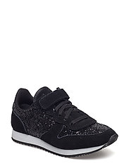shoe velcro glitter - BLACK