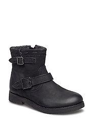 Boot w. glitter - BLACK