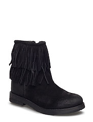 boot w.fringe - BLACK